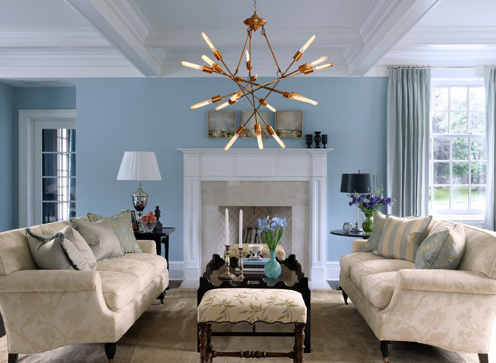 Veneta Filament Chandelier - Living Room Chandelier | Buy Statement Chandeliers Online India