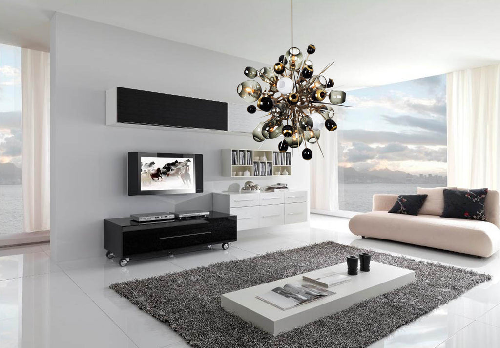 Boom Burst Chandelier - Living Room Chandelier | Buy Statement Chandeliers Online India