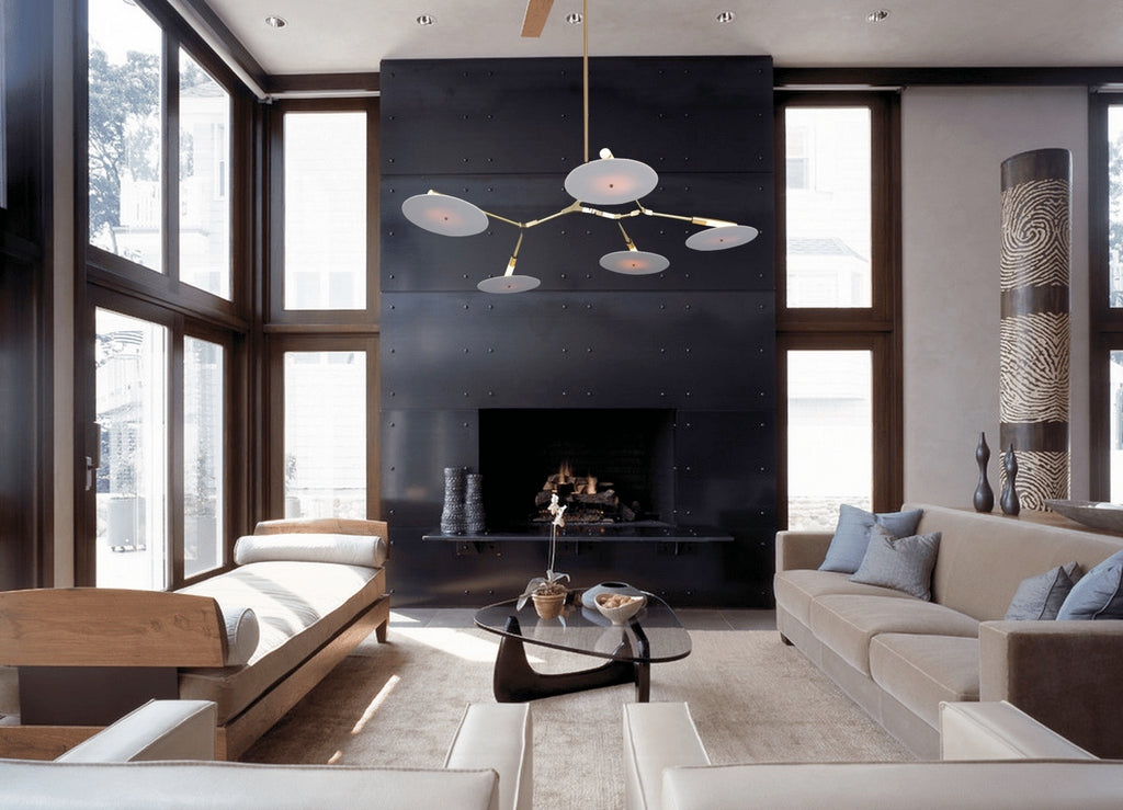 Branching Discs Chandelier - Living Room Chandelier | Buy Statement Chandeliers Online India
