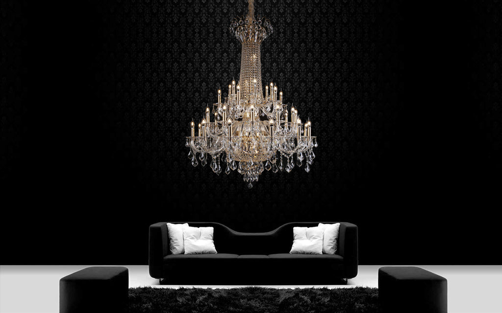 Victoria Crystal Chandelier - Living Room Chandelier | Buy Statement Chandeliers Online India