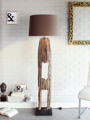 Wooden Floor Lamp by Jainsons Emporio | Buy Modern Floor Lamps Online India