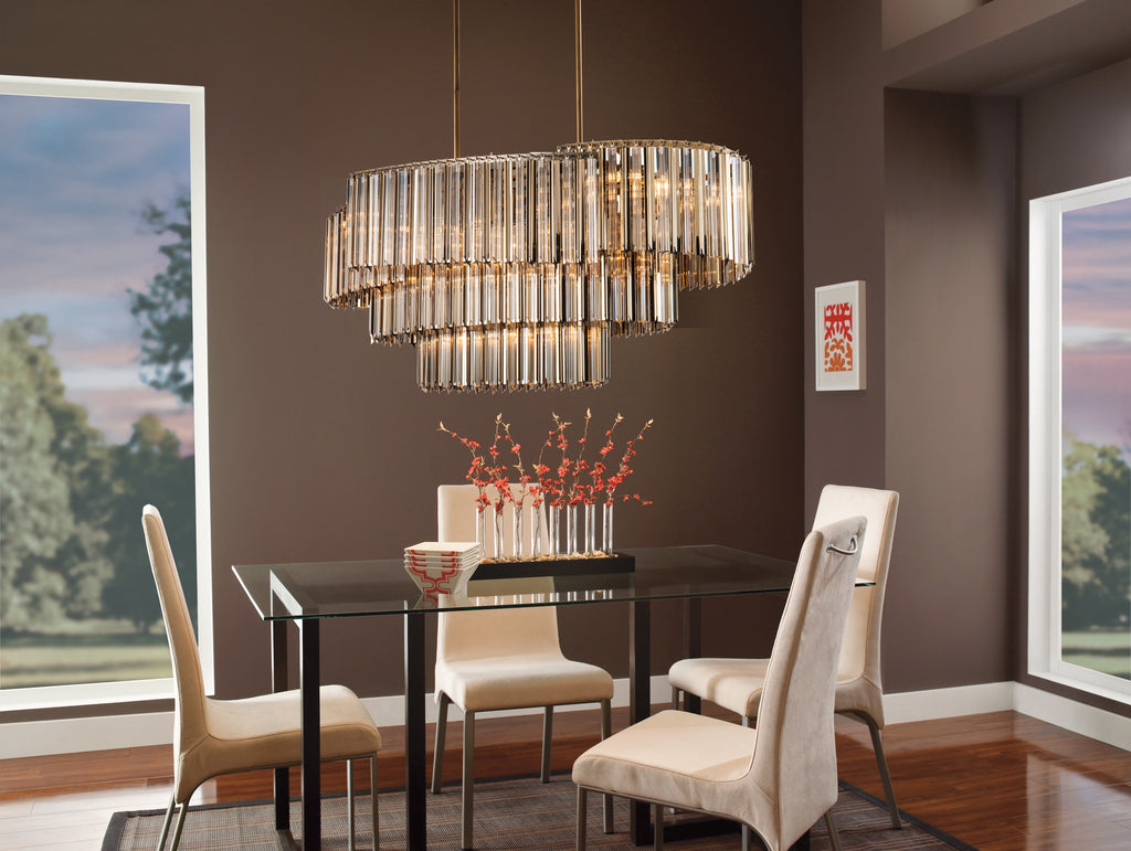 Chimes Champagne Statement Chandelier - Living Room Chandelier | Buy Statement Chandeliers Online India
