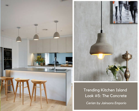 The Cerian Concrete Pendant Lamp for Kitchen Island Lighting