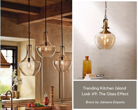 The Glass Pendant Lamp for Kitchen Island Lighting