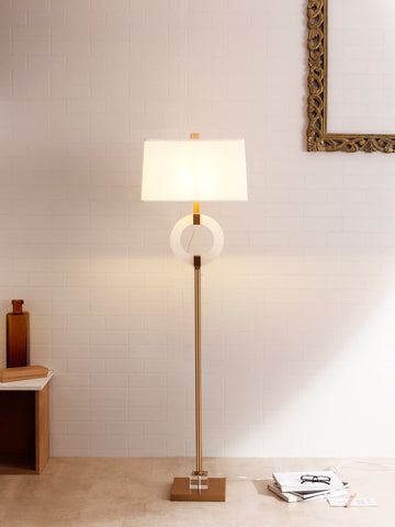 Marble Brass Floor Lamp for Living Room | Buy Luxury Floor Lamps Online India