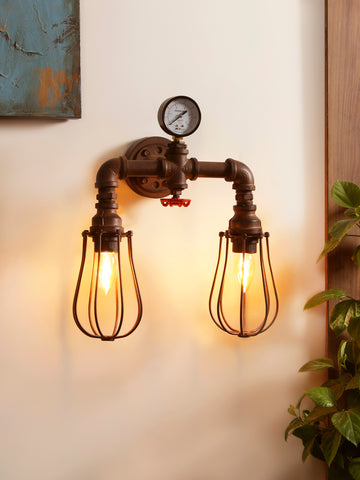 Carillon Industrial Wall Light for Bathroom or Vanity by Jainsons Emporio - Best Lighting Store in India