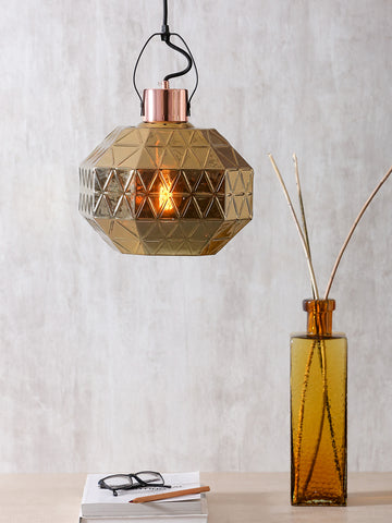 Graces Gold Eclectic Glass Pendant Lamp | Buy Luxury Hanging Lights Online India