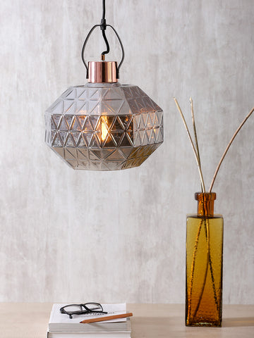 Graces Grey Eclectic Glass Pendant Lamp | Buy Luxury Hanging Lights Online India