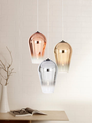 Faded Silver Gold Pendant Lamp | Buy Luxury Hanging Lights Online India