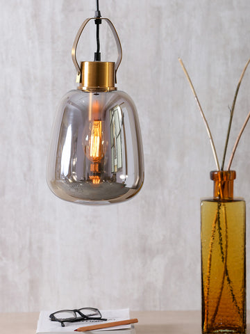 Alices Grey Eclectic Glass Pendant Lamp | Buy Luxury Hanging Lights Online India