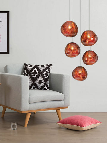 Julius Copper Cascade Chandelier | Buy Modern Chandeliers Online India