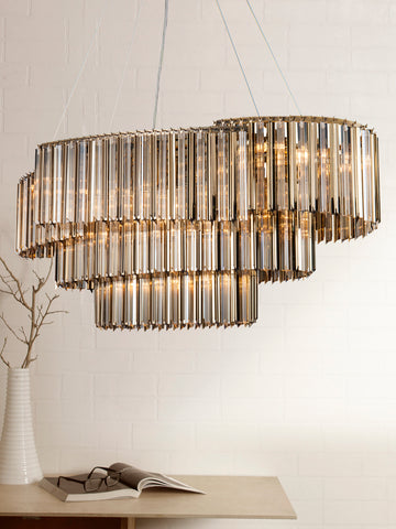 Chimes Gold Crystal Designer Chandelier | Buy Luxury Chandeliers Online India