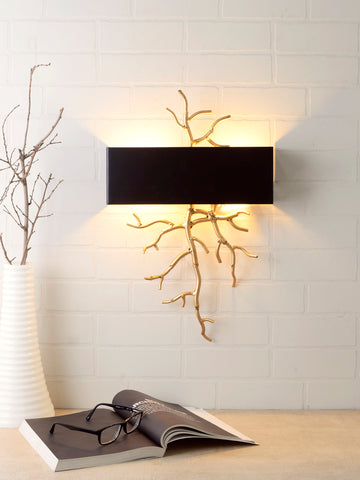 Twig Black Gold Wall Lamp | Buy Luxury Wall Light Online India
