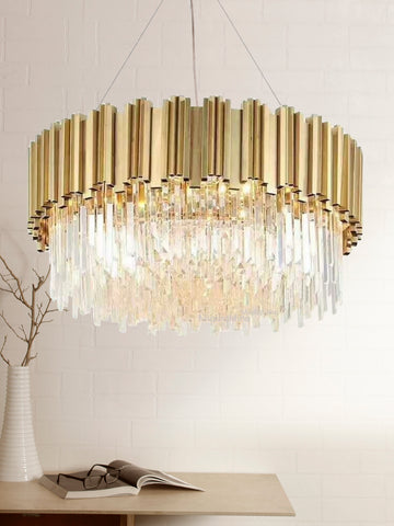 Adele Gold Crystal Chandelier | Buy Luxury Chandeliers Online India