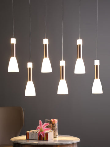 Candolin 6-Lamp | Buy LED Chandeliers Online in India | Jainsons Emporio Lights