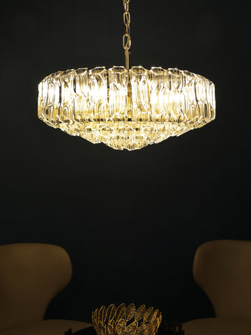 Presca Crystal Rod Chandelier | Buy Crystal Chandeliers Online India