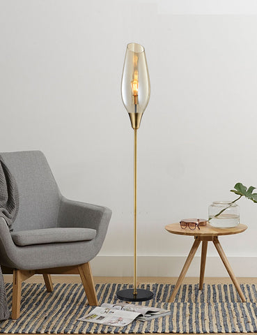 Quino Modern Glass Floor Lamp | Buy Designer Floor Lamps Online India