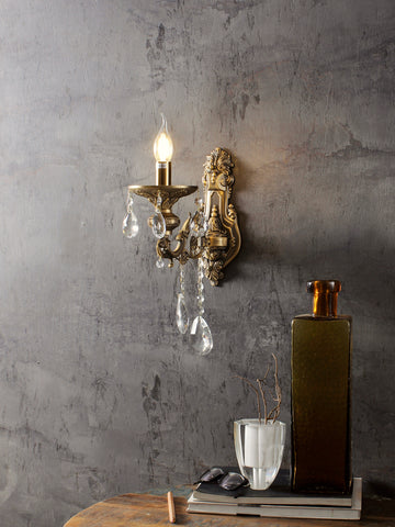 Adison Gold Crystal Wall Light| Buy Crystal Wall Lights Online India