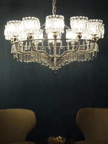 Freya Clear Crystal Chandelier | Buy Crystal Chandeliers Online India