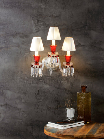 Rudolf Red Crystal Wall Light| Buy Crystal Wall Lights Online India