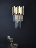 Eron Crystal Tube Wall Light | Buy Gold Luxury Wall Lights Online India