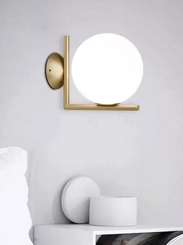 IC Globe White Gold Wall Light | Buy Modern Wall Lights Online India