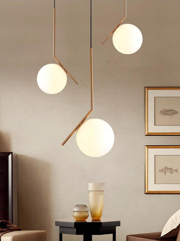 IC Globe White Gold Hanging Light | Buy Hanging Ceiling Lights Online India