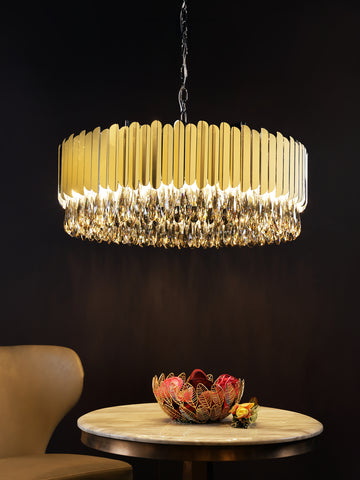 Audrey Gold | Buy Crystal Chandeliers Online in India | Jainsons Emporio Lights