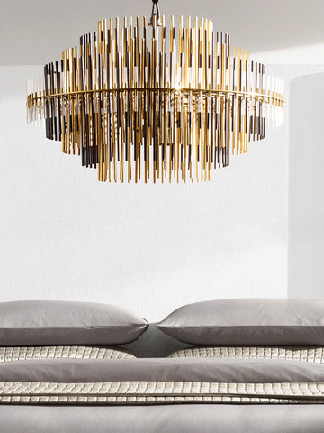 Matias Gold Chandelier | Buy Decorative Chandeliers Online India