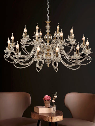Arista 12+6-Lamp | Buy Crystal Chandelier Online in India | Jainsons Emporio Lights