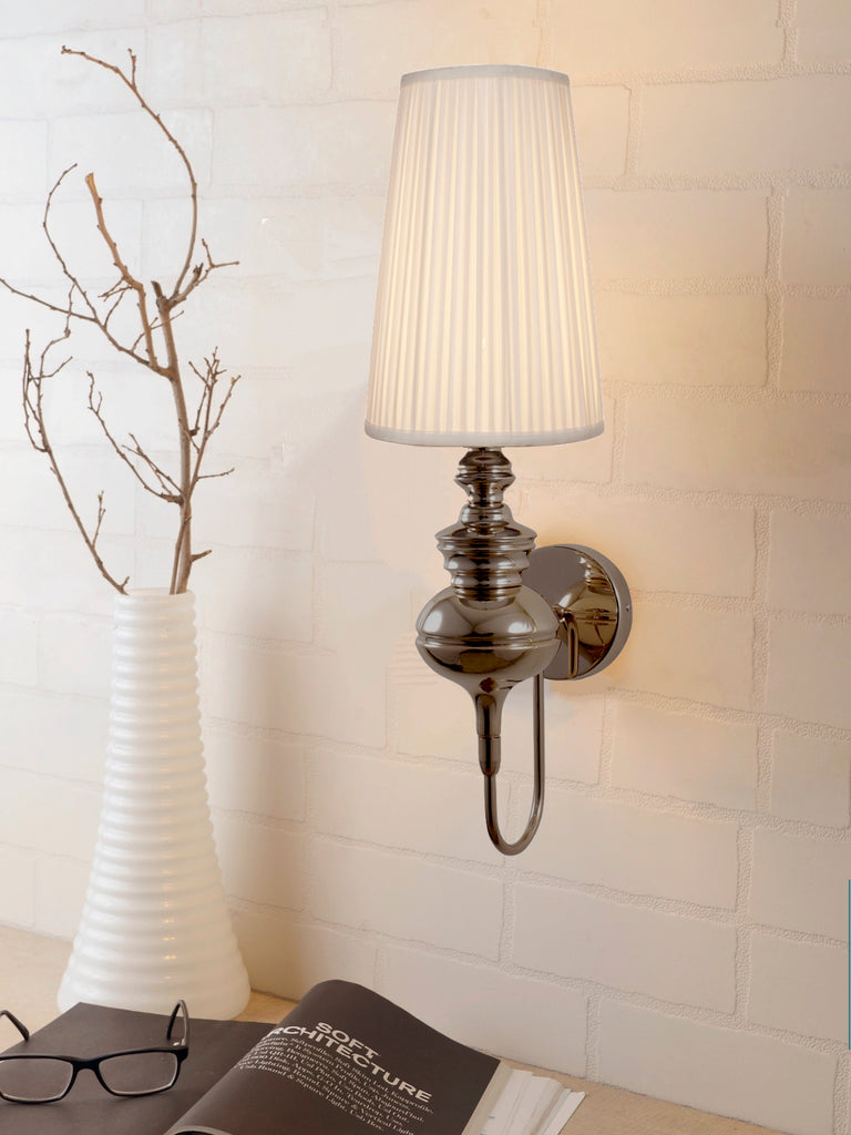 Josephine antique brass wall light buy luxury led wall lights online india