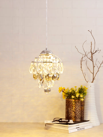 Megan Clear Crystal Pendant Lamp | Buy Luxury Hanging Lights Online India