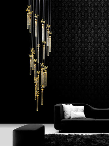 Carmen Gold Crystal Chandelier | Buy Luxury Chandeliers Online India