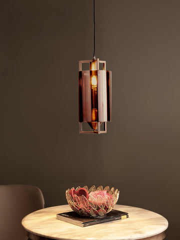 Alicia Copper Glass Pendant Lamp | Buy Luxury Hanging Lights Online India