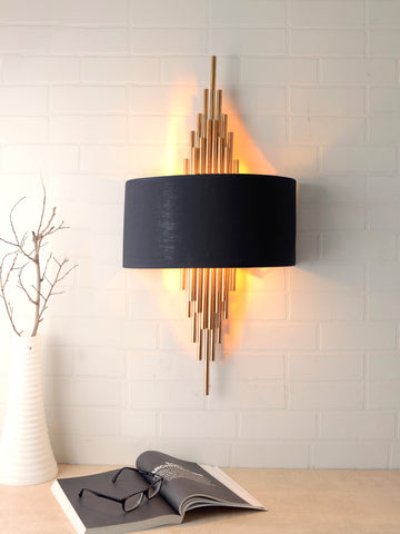 Erwin Black Gold Wall Lamp | Buy Luxury Wall Light Online India