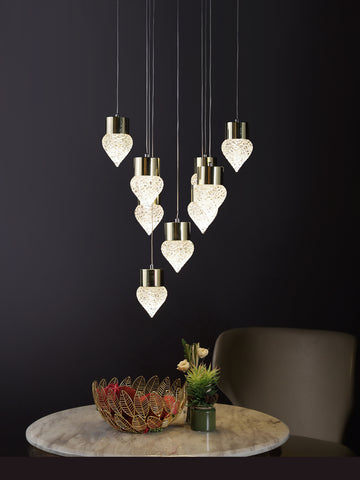Dermot | Buy LED Chandeliers Online in India | Jainsons Emporio Lights