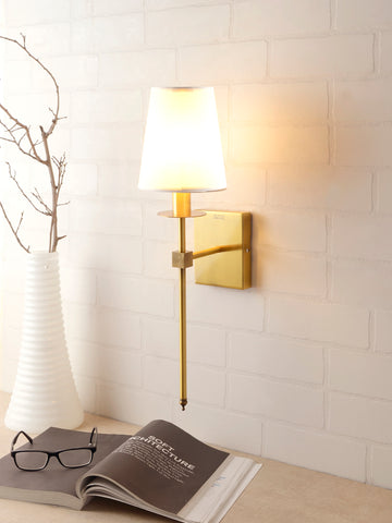 Bert White Gold Wall Lamp | Buy Luxury Wall Light Online India