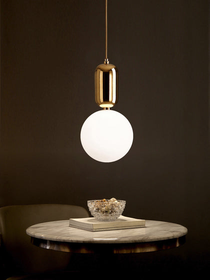 Aballs White Gold Pendant Lamp | Buy Luxury Hanging Lights Online India