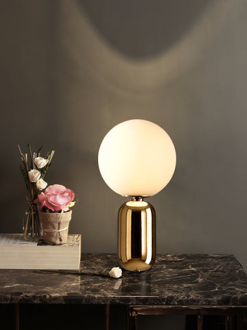 Aballs White Gold Table Lamp | Buy Modern Table Lamps Online India