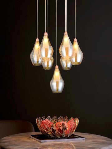 Aliso 7-Lamp | Buy LED Chandeliers Online in India | Jainsons Emporio Lights
