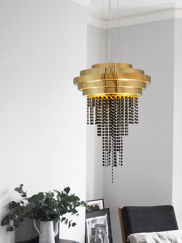 Azeil Gold Crystal Chandelier | Buy Crystal Chandeliers Online India