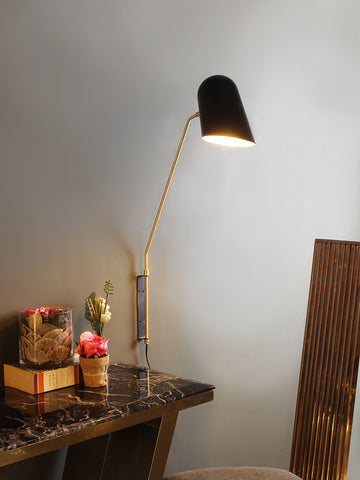 Sully Black Wall Light | But Swing Arm Wall Lights Online India