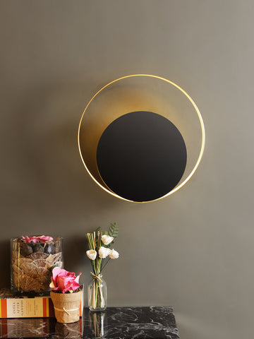 Antolio Black Gold Wall Light | Buy LED Wall Lights Online India
