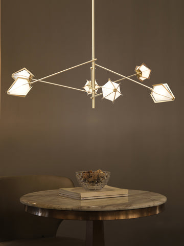 Amosis Gold Chandelier | Buy Modern Chandeliers Online India