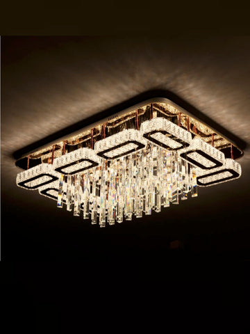 Eliza Crystal Flush Mount Chandelier | Buy Crystal LED Chandeliers Online India