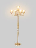 Urion Crystal Gold Floor Lamp | Buy Traditional Floor Lamps Online India