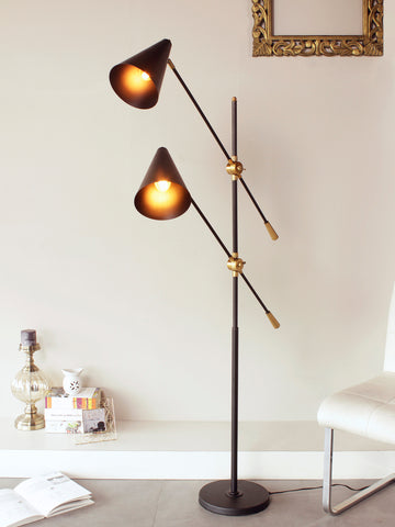 Dual Cone Modern Floor Lamp | Buy Luxury Floor Lamps Online India