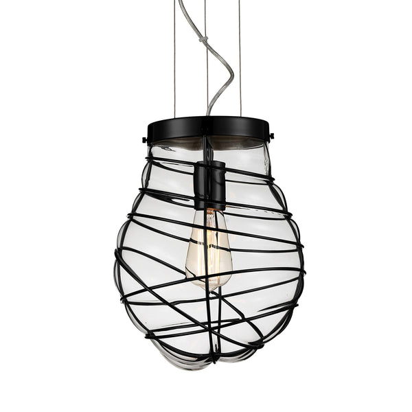 Jainsons Emporio Cage Blown Glass Pendant Lamp