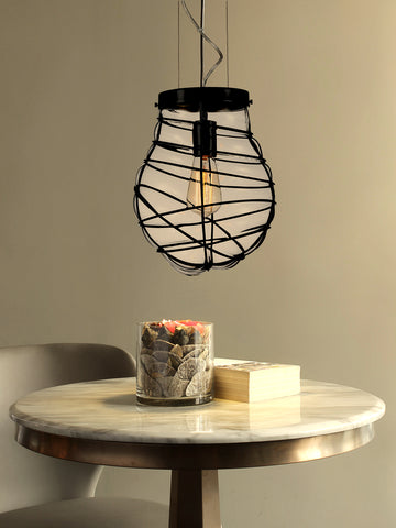Cage Blown Glass Pendant Lamp | Buy Luxury Hanging Lights Online India