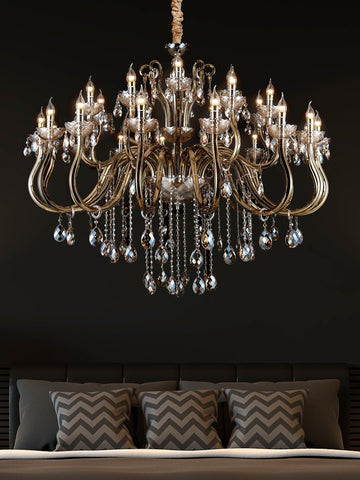 Heather Bronze Crystal Chandelier | Buy Decorative Chandeliers Online India